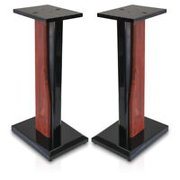 9HORN 24in Wood Speaker Stands Home-Theater HiFi Bookshelf Satellite Heavy-Duty