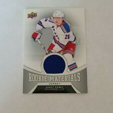 2016-17 Upper Deck Rookie Materials Jimmy Vesey New York Rangers - Jersey BLUE
