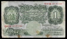 New ListingWorld Paper Money - Great Britain England 1 Pound Nd 1949-55 P369b @ Fine
