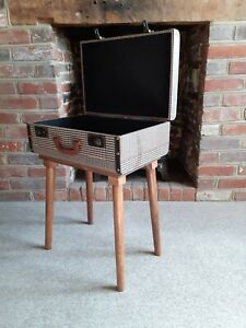 Suitcase Side Table With Open Top For Storage