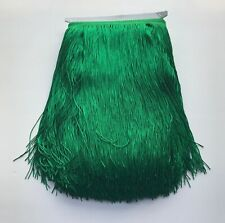 "12"" Green Chainette Fabric Fringe Lampshade Lamp Costume Trim by the Yard"