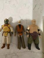 Vintage Kenner Star Wars Rancor Keeper Obi Won Kenobi Klaatu Figure Lot