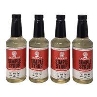 4-Pk Lakanto Simple Flavoring Syrup, Sugar Free Monkfruit Sweetener KETO 16.5oz