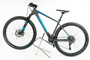 """Cube Reaction C:62 SL Bicycle Grey & Blue Size 19"""" 2x12 Speed Fox 32"""