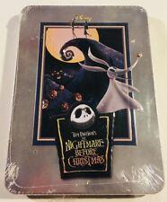 Disney NIGHTMARE BEFORE CHRISTMAS DVD Tin Tim Burton