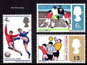 GB 1966 Football World Cup Phosphor Set SG693p - 695p Unmounted Mint