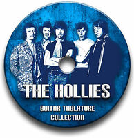 THE HOLLIES POP GUITAR TAB TABLATURE SONG BOOK SOFTWARE CD