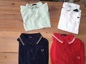 Adult Bundle Fred Perry & Lacoste Polo Shirts. X 4