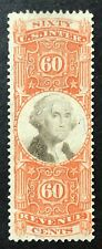 Scott R142 60Cents Third Issue Us Revenue 1871-1872 Cc