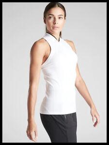 Athleta NWT Women's Momentum Polo Tank Size XSmall Color White