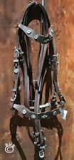 Baroque Portuguese Dressage Double Weymouth Horse Bridle Brown/silver WB NWT