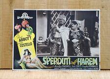 SPERDUTI NELL'HAREM fotobusta poster Bud Abbott Lou Costello Lost in a C91