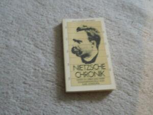 Nietzsche-Chronik , Reihe Hanser 198, Daten zu Leben und Werk, Karl Schlechta