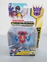 2017 Transformers Cyberverse Wing Slice Warrior Class Starscream Figure New