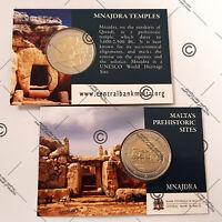Coincard 2 euros commémorative MALTE 2018 - Mnajdra - UNC - 20 000 ex.