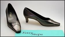 EASY STEPS WOMEN'S PEWTER  CLASSIC DRESS HEELS SHOES SIZE 8.5 C NEW WITH FAULT