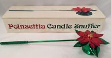 Vtg Poinsettia Metal Candle Snuffer Xmas Holiday Decor Dept 56 Original Box NEW