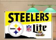 Pittsburgh Steelers Miller Lite Beer Flag Banner 3X5Feet