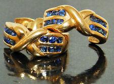 Sapphire Yellow Gold 14 Carat Fine Earrings