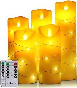 2in1 LED Teelichter+Lichterkett Timer elektrische Teelichter LED Kerzen Teelicht