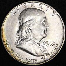 1949-D Franklin Half Dollar CHOICE BU FREE SHIPPING E278 RNM