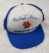 Portland Metro Indicator Club Mesh Hat Vintage Trucker Snapback Red White Blue