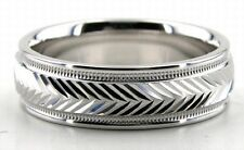 MENS WOMENS 10K SOLID WHITE GOLD WEDDING BANDS RINGS HIS HERS WEDDING RING