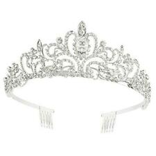Makone Crystal Crowns and Tiaras with Comb Headband for Girl or Women Birthday P