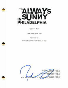 ROB MCELHENNEY SIGNED AUTOGRAPH - ITS ALWAYS SUNNY IN PHILADELPHIA PILOT SCRIPT