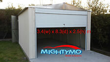 Large Steel Garden Shed 3.4x8M Storage, Workshop Garage Colorbond Site Yard Shed