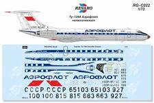 Revaro Decal Tupolev 1/72 Tu-134A Aeroflot classic 70-80s (for Amodel kit)