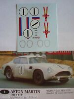 DECALS KIT 1/43 ASTON MARTIN DB4 GT LE MANS 1961