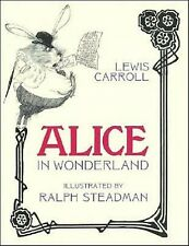 ALICE IN WONDERLAND Lewis Carroll RALPH STEADMAN ILLUSTRATIONS ~ 1st PRINT RARE!