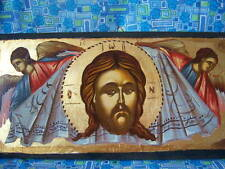 FACE OF CHRIST HAND PAINTED GREEK ORTHODOX ICON