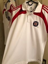 Vintage Mens Small Nike Chicago Fire MLS Jersey New NWT Collar White ClimaLite