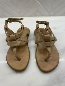 KENNETH COLE REACTION Light Brown Leather Sandals Toddler Girls Sz 8 Non-Marking