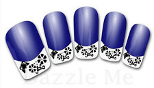 3D Nail Art Decals Transfer Stickers French Tip Design Butterfly (3D844)