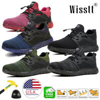 Men's Work Boots Steel Toe Cap Safety Shoes Reflective Lightweight Sneakers