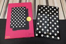 Kate SPADE Autentico Nero Bianco a Pois a scatto iPad Case Shell Nuovo di Zecca