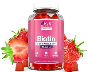 Biotin Haar Gummies 10,000mcg Biotin 90 Vegan Gummies Köstlich Verkostung