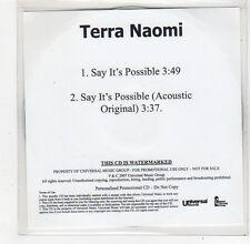 (FO751) Terra Naomi, Say It's Possible - 2007 DJ CD