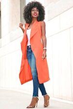H&M Long Orange Vest Gilet Soprabito