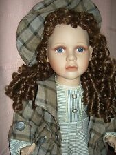 """Outstanding, fine quality, Large 25"""", bisque head sgnd.artist doll~Ashley Belle"""