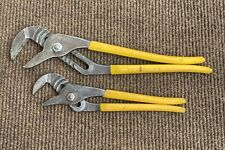 """Klein Tools Pump Pliers 12""""+16"""" D502-12+16 2 Pairs Made In USA"""
