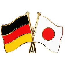Freundschaftspin Deutschland - Japan Anstecker Anstecknadel Fahne Doppelpin