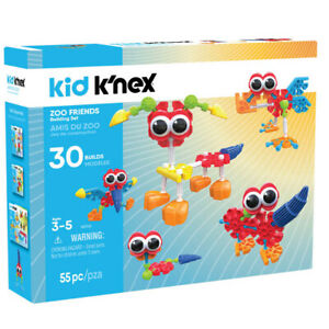 Kid Knex Zoo Friends Building Set 30 Models - Large Pieces For Young Children