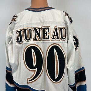 Starter Joe Juneau Washington Capitals Screaming Eagle Jersey Vtg 90s NHL Sewn L