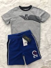 Armani Junior And Ralph Lauren Designer Outfit Tshirt Shorts Boys Age 4 Years