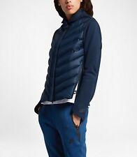 WOMEN'S NIKE TECH FLEECE AEROLOFT BLUE BOMBER,  804982-423, Obsidian Blue, S