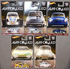Hot Wheels Car Culture Air Cooled Set of 5 - Real Riders - Volkswagen - Porsche